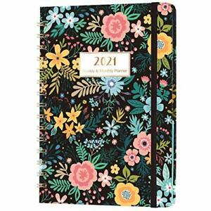 Diary 2021, A5 Week to View Planner Diary, 2021 & 2022 Calendars Overview Page,