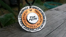 Tom Petty Necklace Handmade Custom Orders. Many to choose from. Music Lyrics