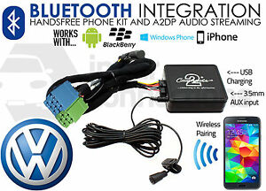 VW Sharan Bluetooth adapter music streaming calls CTAVGBT003 AUX iPhone Pre 2005