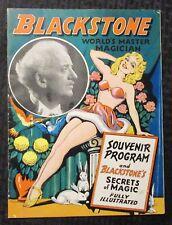 1940's BLACKSTONE World's Master Magician Souvenir Program FN 6.0 20pgs