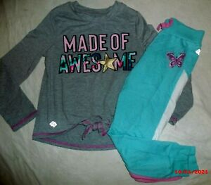 GIRL'S ZELOS BLUE & GRAY 2 PCS OUTFIT~SIZE SMALL 7 / 8