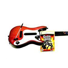 Xbox 360 Wireless Guitar Hero 5 Guitar & World Tour Game Rare Model FWO VGC
