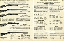 1967 2pg Print Ad Browning Automatic-5, Buck-Special & Double Automatic Shotgun