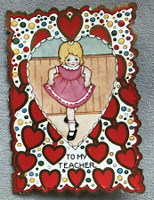 Antique/vintage Teacher Valentine's Card, Used