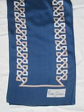 Echarpe en soie PIERRE CARDIN Paris  BEG - foulard Scarf  32 x 200 cm