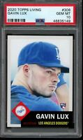 2020 Topps Living Set #306 Gavin Lux RC Rookie PSA 10 Gem Mint SP Card