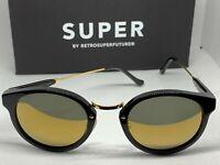 RetroSuperFuture 4SU Panama Black 24K Frame Size 47mm Sunglasses NIB