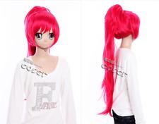 W-198 Puella Magi Madoka Magica Kyoko Cosplay Perruque Wig Hitzefest Rose Pink