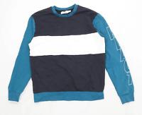 Topman Mens Size S Cotton Graphic Blue React Sweatshirt