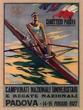 SPORT ROWING CANOE PADOVA ITALY REGATTA EXHIBITION VINTAGE ADVERT POSTER 2080PY