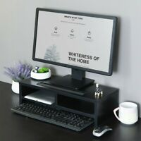 Monitor Stand Computer Riser Office Desktop Keyboard Storage Shelf With Drawer