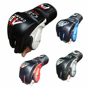 Art Leather MMA UFC Grappling Gloves Fight Boxing Punch Bag Training Kick Boxing