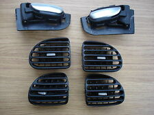 Peugeot 206 pair of chrome handles and four dash vents/upgrade 1998 onwards