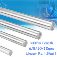 300mm 6/8/10/12mm CNC 3D Printer Axis Chromed Smooth Rod Steel Linear Rail Shaft