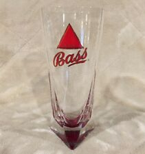 "Bass Beer Ale 7.5"" Tall Red Triangle Bottom 16oz Glass Mug Cup Stein Tankard"