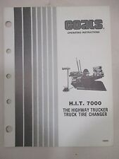 USED - Coats HIT 7000 Truck Tire Changer Instruction Manual