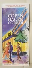Vintage CopenHagen Corner Restautant and drink menu souvenir