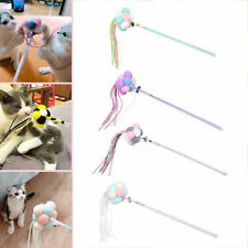 Pet Kitten Cat Teaser Interactive Play Toys Fairy Wand Stick Fun Toy Balls