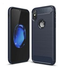 For iPhone XR Carbon Fiber Armour Cover Shockproof TPU Heavy Duty Soft Case