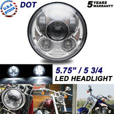 5.75 5 3/4 LED Headlight Sealed Chrome Projector DRL For Dyna Sportster