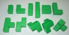 Blokus 3D Green Replacement Parts LOT 11 Board Game Piece COMPLETE Set