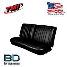 1968 Chevy Chevelle Front & Rear Bench Seat Upholstery Black Made in USA by TMI