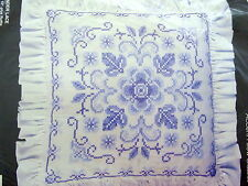 Lavender Lace Stamped Cross Stitch Pillow Kit--Unopened