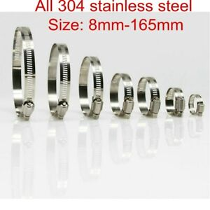 Stainless Steel Hose Clips Pipe Clamps - jubilee type - 304ss - British Type