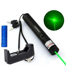 Powerful 10Mile Green Laser Pointer 5mw 532nm Military Laser Pen+Battery+Charger