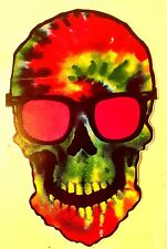 "4"" x 5.5"" Psychedelic 60's Skull Sticker / Decal - laptop - Grateful Dead - 420"