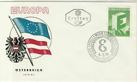 Europa Austria 1959 Wien Slogan Cancel Flags Picture FDC Stamp Cover Ref 25941