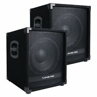 """Sound Town 2-Pack 12"""" 2800W Powered PA DJ Subwoofer w/ 3"""" VC METIS-12SPW-PAIR"""