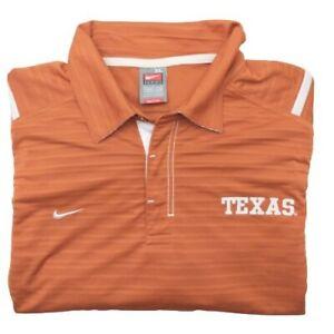 Nike Team Men's XL Texas Longhorns Orange Golf Polo NCAA Performance