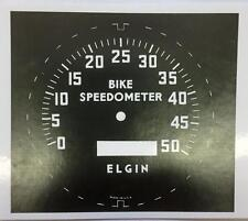 Stewart Warner ELGIN BIKE bicycle SPEEDOMETER FACE decal