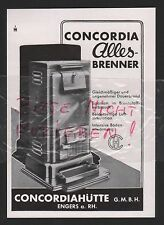 ENGERS, Werbung 1935, Concordiahütte GmbH Alles-Brenner