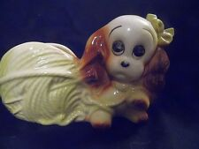 Adorable Planter 1950's Hull Pottery Cocker Spaniel with ball of yarn
