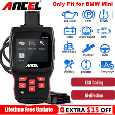 For BMW Mini Auto All System OBD2 Diagnostic Scanner ECU Coding SRS DPF TPMS Oil