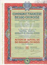 COMPAGNIE FINANCIERE BELGO-CHINOISE