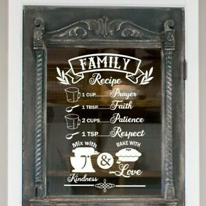 Family Recipe Sticker, Kitchen Decal, Pantry Decal, Baking Decal
