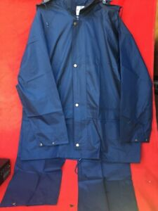 Navy Arco Lightweight Waterproof Jacket Trouser Set XL Unisex (KK)