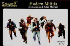 Caesar Miniatures 1/72nd Scale Modern Militia Somalian & Asian Figures CMF63 NEW