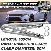 300cm Stainless Steel Exhaust Pipe Hose Duct Parking Air Heater Tank Diesel Vent