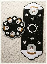 PATTERN~*A Winter World*~Snowman~Table Runner~Candle Mat~Penny Rug *2 in 1!*
