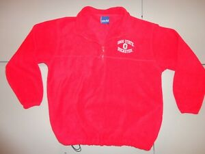 Vtg Ohio State Buckeyes NCAA Embroidered Fleece Pullover Jacket Youth L (14-16)
