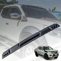 FRONT MATTE MATT BLACK ROOF SPOILER WITH LEDs FOR NISSAN NAVARA NP300 2014 17 18