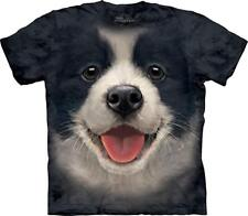 The Mountain 100% Cotton Kid's T-Shirt - Big Face Border Collie Puppy Size L NWT