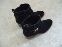 KATE SPADE NEW YORK BLACK SUEDE ANKLE BOOTS SIZE 7M NEW WITH TAGS, NO BOX
