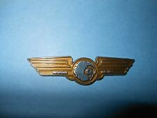 HAWAIIAN HAWAII AIRLINES RARE PLASTIC JUNIOR FLIGHT JR PILOT KIDDIE WINGS BADGE