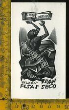 Ex Libris Originale Tranquillo Marangoni a 920  Juan Fisas Seco