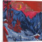 ARTCANVAS Winter Moonlit Night 1919 Canvas Art Print by Ernst Ludwig Kirchner